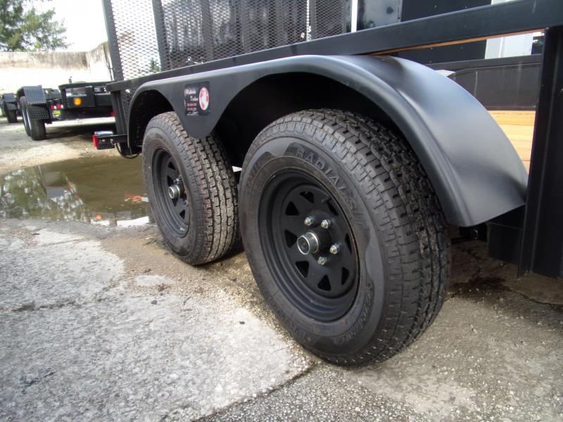 *111621* 7x14 Utility Trailer W/Brakes and Tube Rail 7 x 14