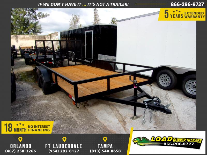 *111621* 7x14 Utility Trailer W/Brakes and Tube Rail 7 x 14