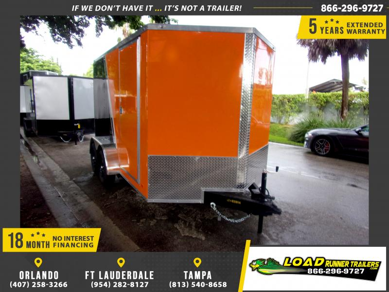*111894* 7x12 Enclosed Cargo Trailer |LRT Tandem Axle Trailers 7 x 12