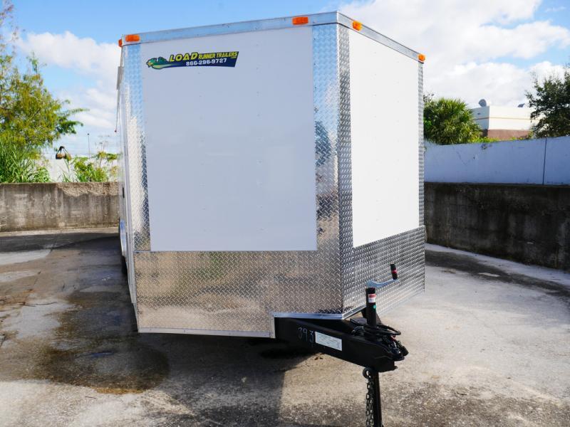 *FD43* 8.5x24 Enclosed Cargo Trailer |Tandem Axle Car Trailers 8.5 x 24