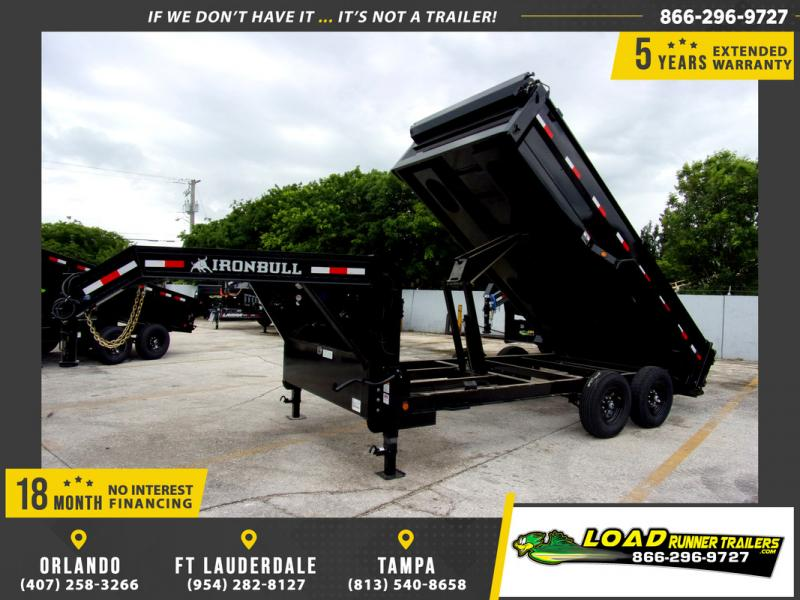 *109972* 7x16 Gooseneck Dump Trailer |LRT Tandem Axle Trailers 7 x 16