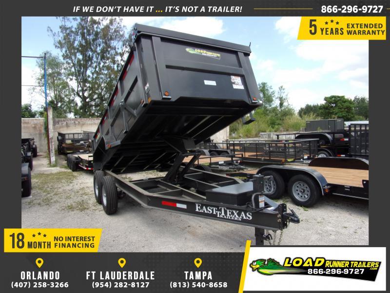 *114818* 7x16 Dump Trailer |LRT Tandem Axle Trailers 7 x 16