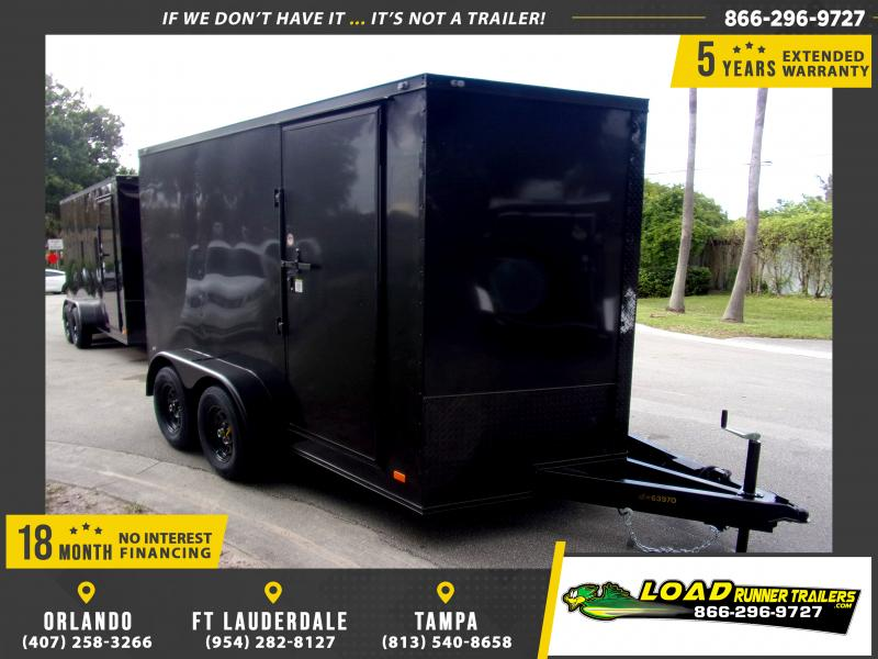 *115208* 7x12 Enclosed Cargo Trailer |LRT Tandem Axle Trailers 7 x 12