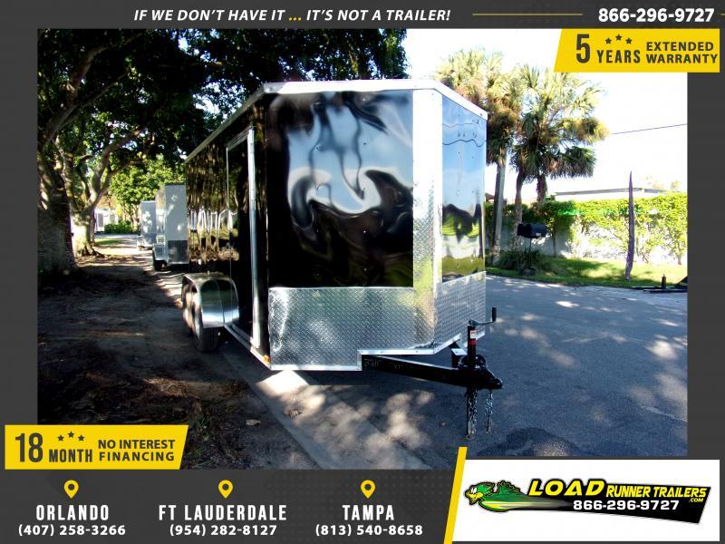 *117333* 7x14 Enclosed Cargo Trailer |LRT Tandem Axle Trailers 7 x 14