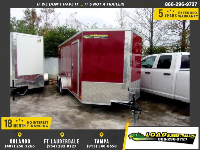 *117541* 7x16 Enclosed Cargo Trailer |LRT Tandem Axle Trailers 7 x 16