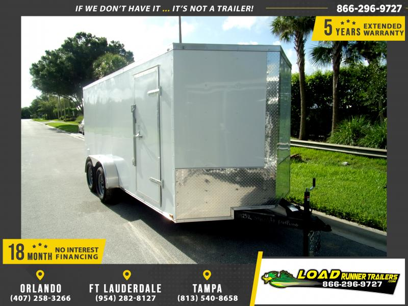 *116877* 7x16 Enclosed Cargo Trailer |LRT Tandem Axle Trailers 7 x 16