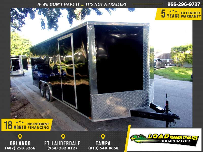 *118008* 8.5x20 Enclosed Cargo Trailer  LRT Tandem Axle Trailers 8.5 x 20