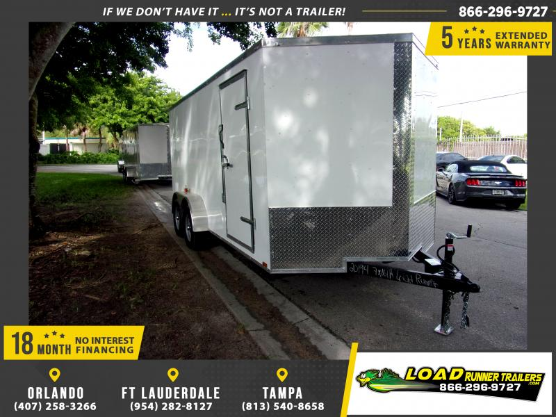 *114924* 7x16 Enclosed Cargo Trailer |LRT Tandem Axle Trailers 7 x 16