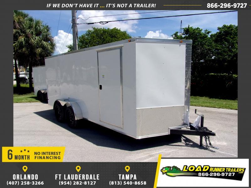 *116553* 7x14 Enclosed Cargo Trailer |LRT Tandem Axle Trailers 7 x 14