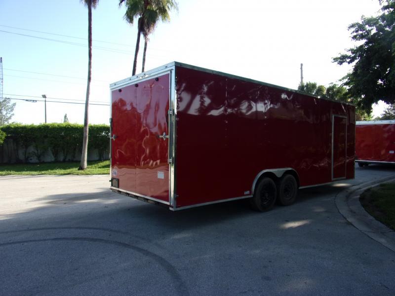 *117389* 8.5x24 Enclosed Cargo Trailer  LRT Tandem Axle Trailers 8.5 x 24