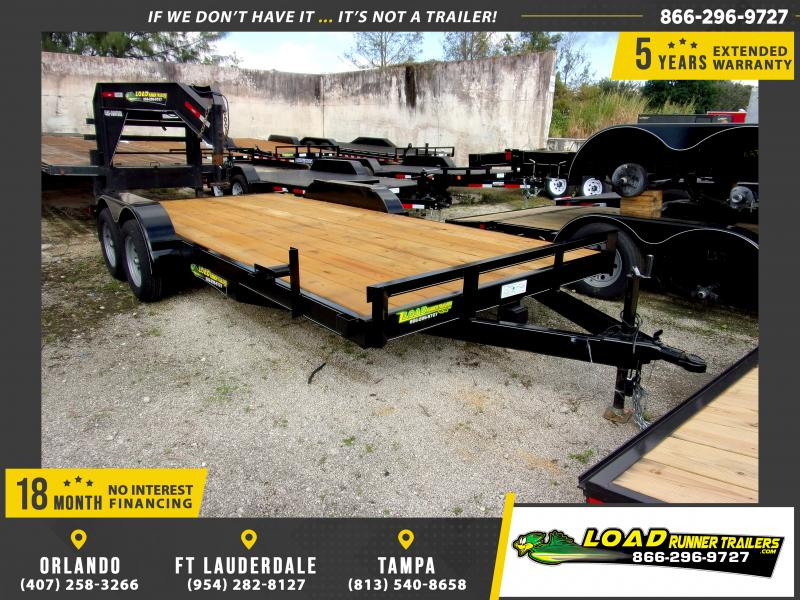 *116632* 7x18 Car Trailer |LRT Tandem Axle Trailers 7 x 18