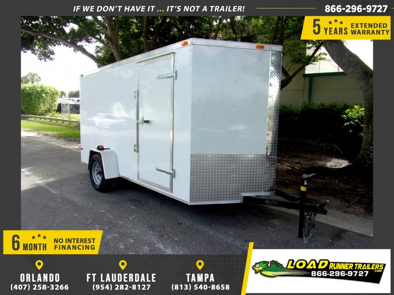 *115136* 6x12 Enclosed Cargo Trailer |LRT Haulers & Trailers 6 x 12