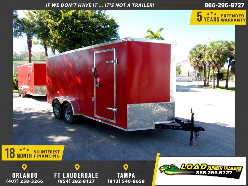 *117995* 7x16 Enclosed Cargo Trailer  LRT Tandem Axle Trailers 7 x 16