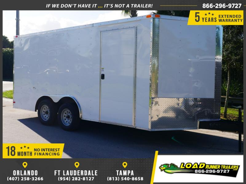 *E10-BB* 8.5x16 ENCLOSED CARGO TRAILER |LR Car Hauler Trailers 8.5 x 16 | EV8.5-16T3-R