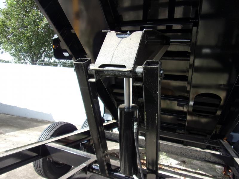 *110323* 7x14 Gooseneck Dump Trailer |LRT Tandem Axle Trailers 7 x 14