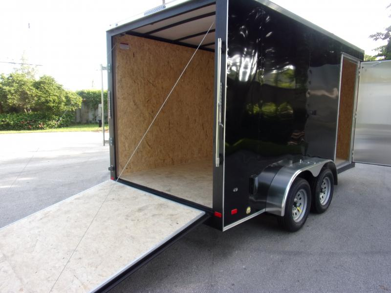 *117794* 7x14 Enclosed Cargo Trailer |LRT Tandem Axle Trailers 7 x 14