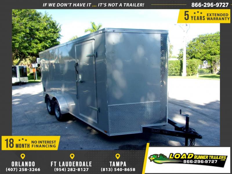 *118135* 7x16 Enclosed Cargo Trailer  LRT Tandem Axle Trailers 7 x 16