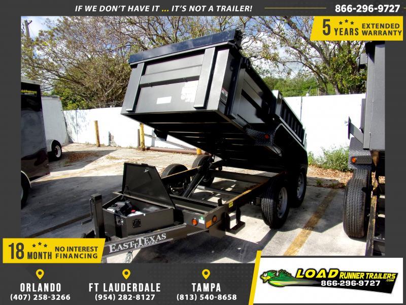 *114168* 5x10 Dump Trailer |LRT Tandem Axle Trailers 5 x 10