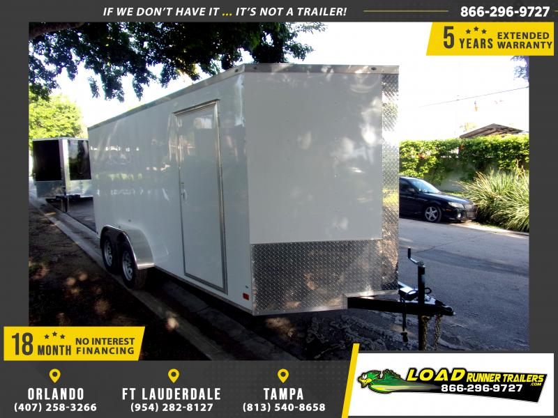 *117579* 7x16 Enclosed Cargo Trailer |LRT Tandem Axle Trailers 7 x 16