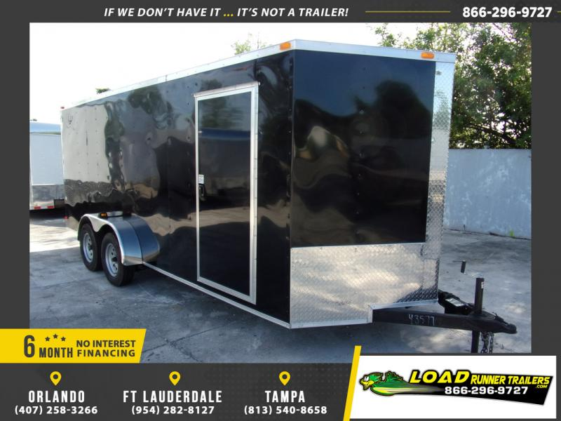 *109133* 7x18 Enclosed Cargo Trailer |LRT Tandem Axle Trailers 7 x 18