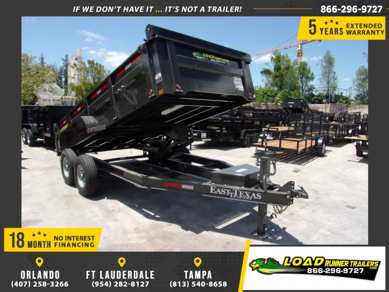 *114976* 7x16 Dump Trailer |LRT Tandem Axle Trailers 7 x 16