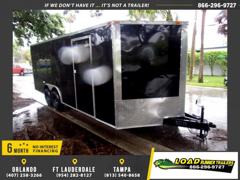*117020* 8.5x20 Enclosed Cargo Trailer |LRT Tandem Axle Trailers 8.5 x 20