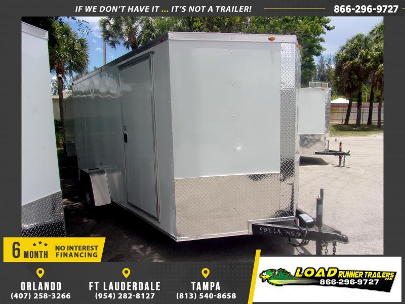 *115616* 7x12 Enclosed Cargo Trailer  LRT Haulers & Trailers 7 x 12