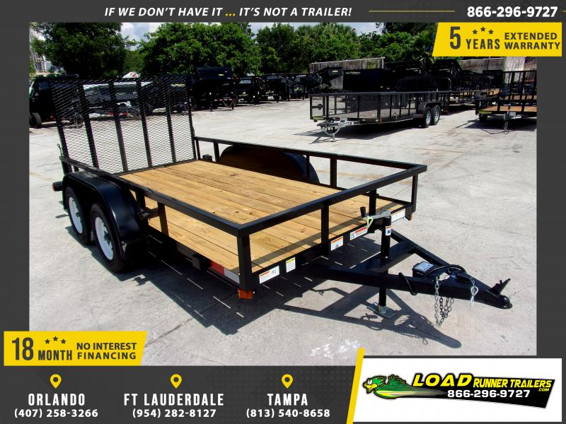 *116681* 6x12 Tandem Axle Utility Trailer With Brakes 6 x 12