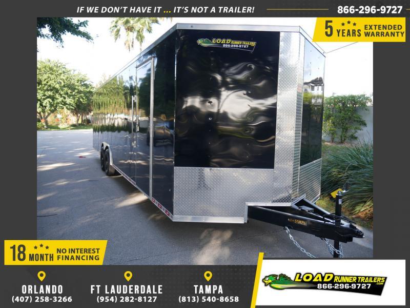 *108412* 8.5x30 Enclosed Cargo Trailer  LRT Tandem Axle Trailers 8.5 x 30