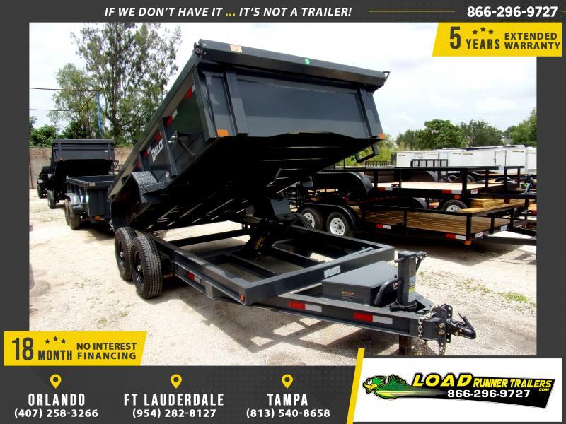*116423* 7x14 Dump Trailer  LRT Tandem Axle Trailers 7 x 14