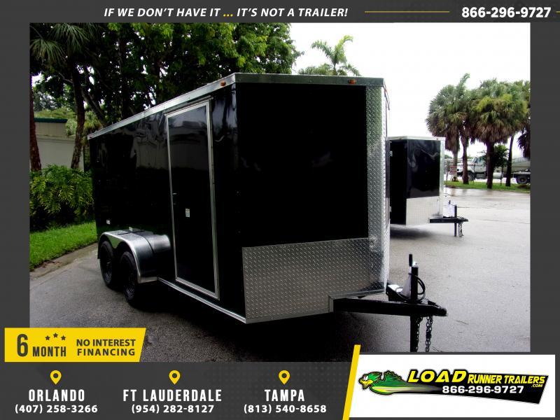 *116810* 7x14 Enclosed Cargo Trailer  LRT Tandem Axle Trailers 7 x 14
