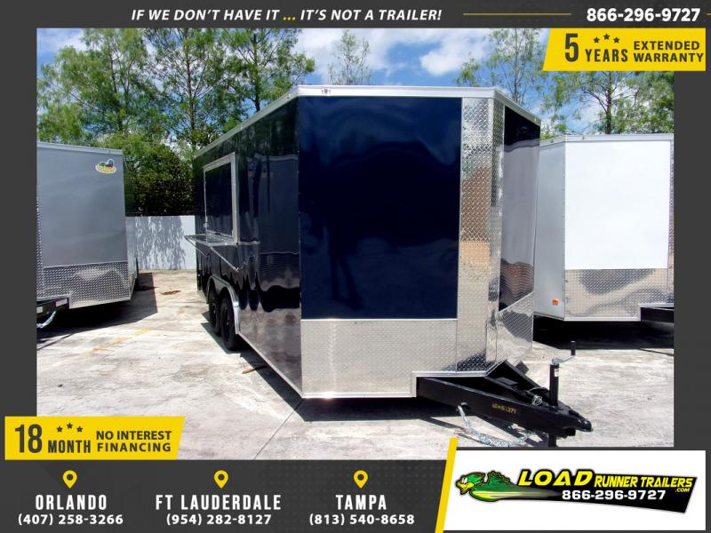 *109892* 8.5x16 Enclosed Cargo Trailer W/Concession Window 8.5 x 16