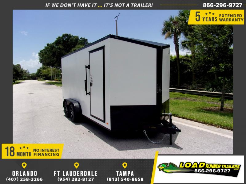 *110220* 7x16 Enclosed Cargo Trailer |LRT Tandem Axle Trailers 7 x 16