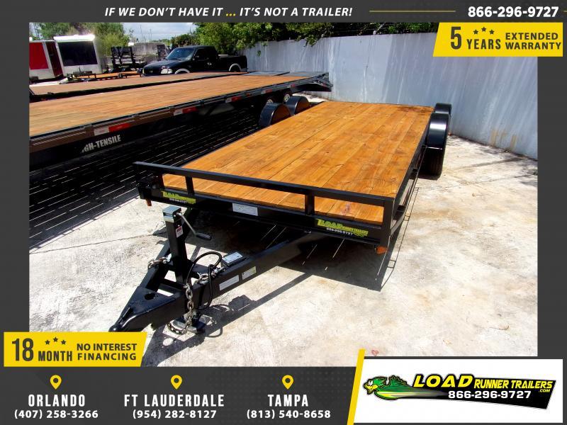 *115122* 7x18 Car Trailer |LRT Tandem Axle Trailers 7 x 18