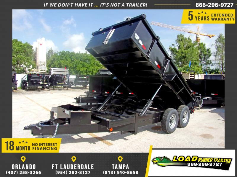 *117647* 7x14 Dump Trailer |LRT Tandem Axle Trailers 7 x 14