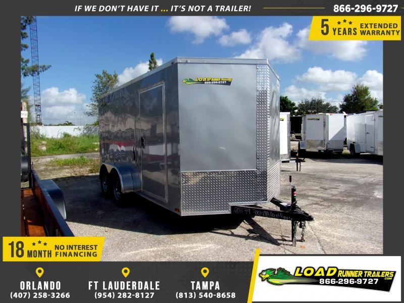 *112098* 7x14 Enclosed Cargo Trailer |LRT Tandem Axle Trailers 7 x 14
