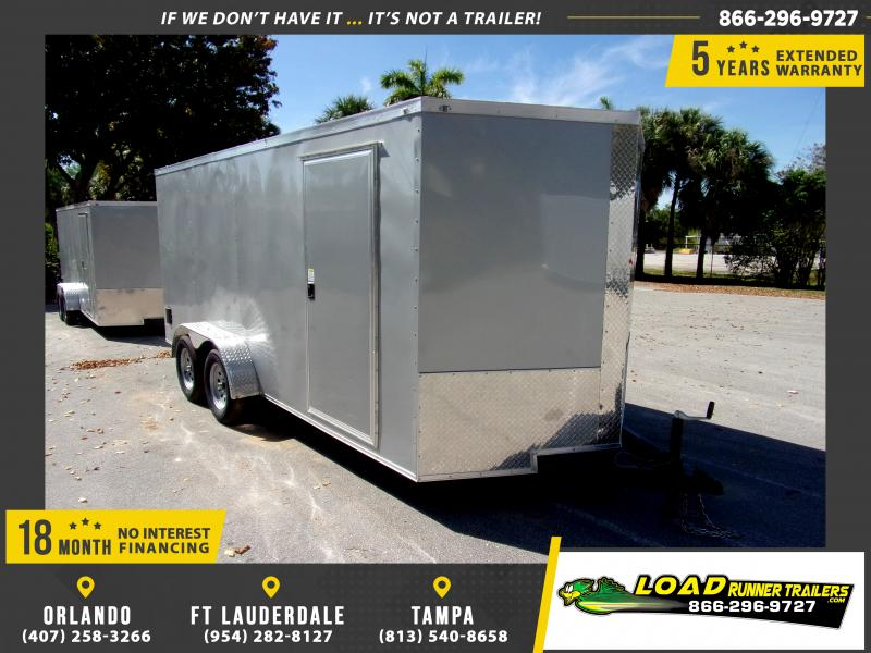 *114544* 7x16 Enclosed Cargo Trailer |LRT Tandem Axle Trailers 7 x 16