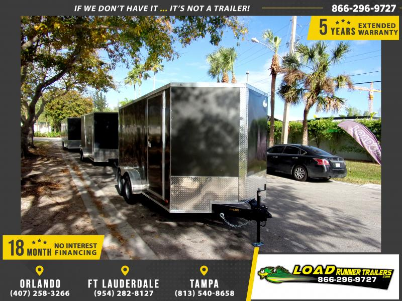 *114579* 7x14 Enclosed Cargo Trailer |LRT Tandem Axle Trailers 7 x 14