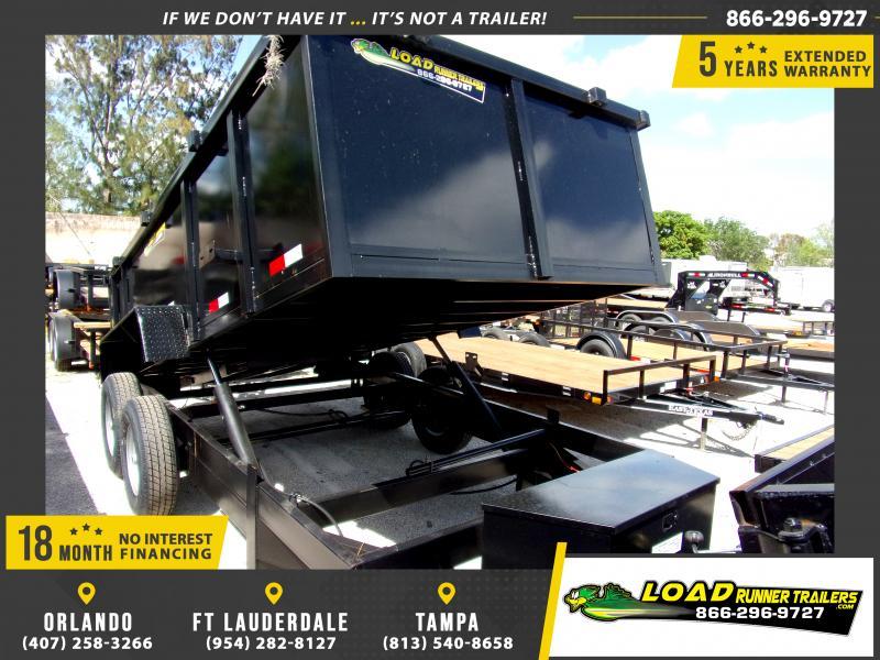 *114546* 7x14 Dump Trailer |LRT Tandem Axle Trailers 7 x 14