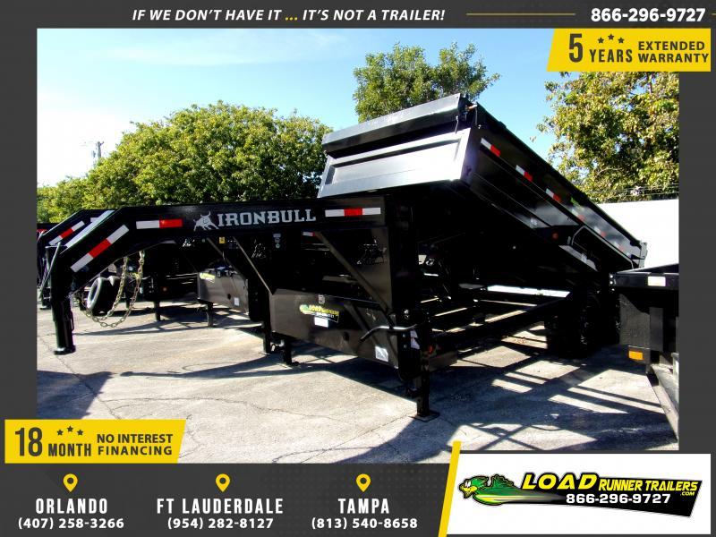 *113405* 7x14 Gooseneck Dump Trailer |LRT Tandem Axle Trailers 7 x 14