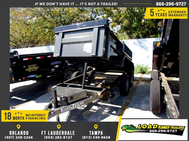 *113760* 5x10 Dump Trailer |LRT Tandem Axle Trailers 5 x 10