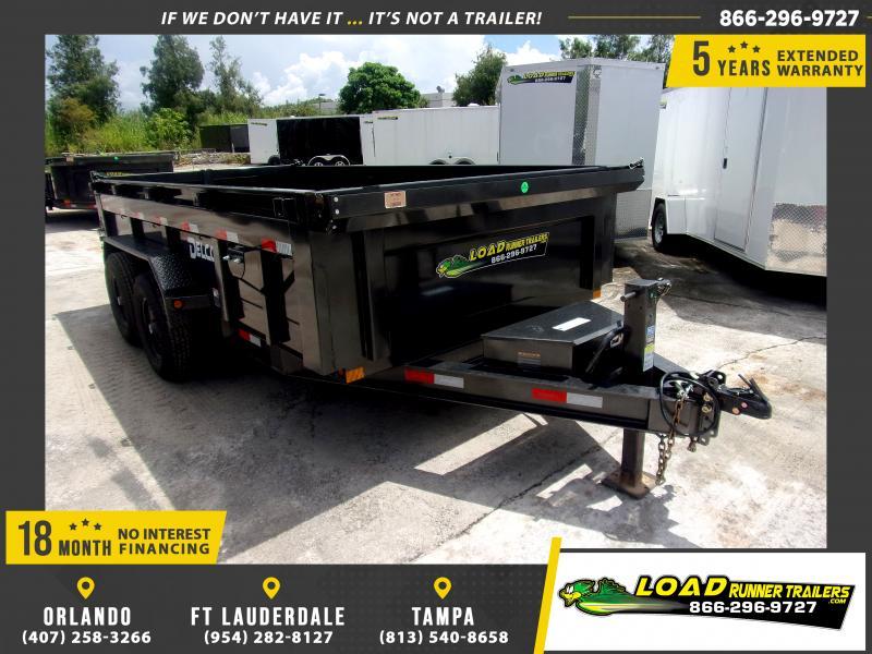 *116486* 7x14 Dump Trailer  LRT Tandem Axle Trailers 7 x 14
