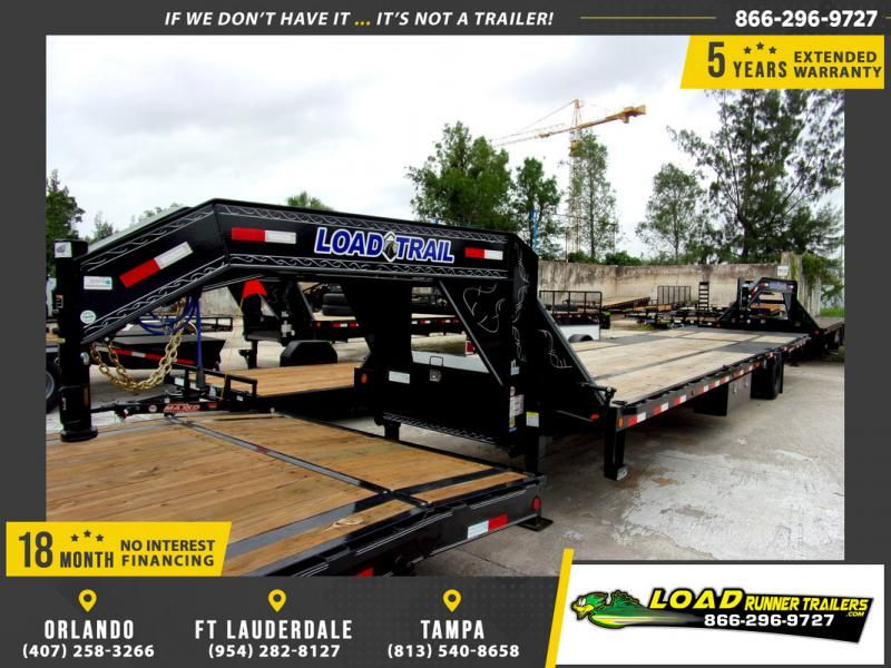 *109784* 8.5x32 Gooseneck Flatbed Deck Over Trailer |LRT Haulers & Trailers 8.5 x 32