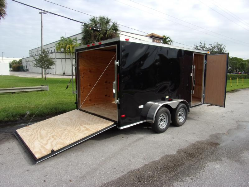 *112395* 7x14 Enclosed Cargo Trailer |LRT Tandem Axle Trailers 7 x 14