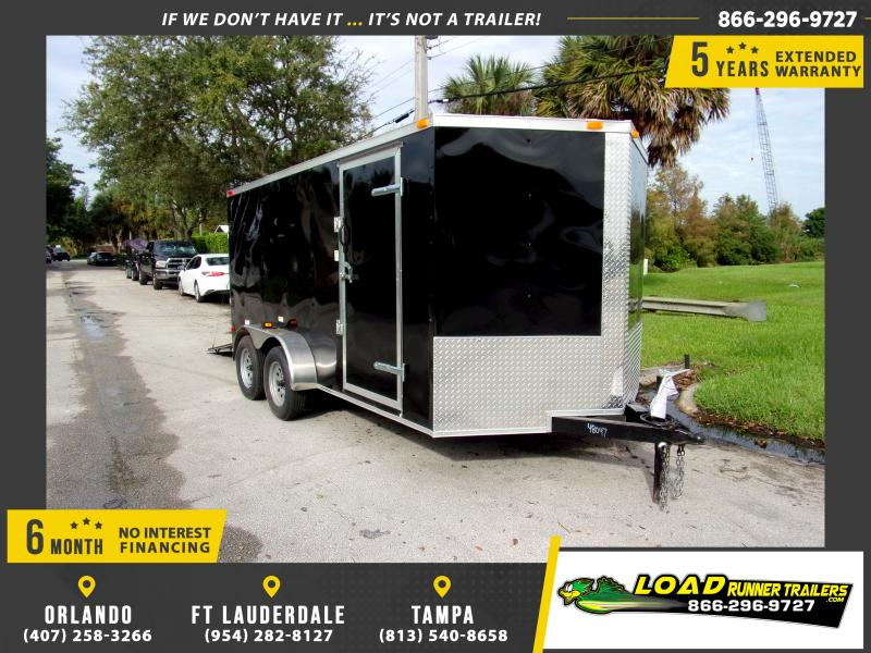 *112395* 7x14 Enclosed Cargo Trailer |LRT Tandem Axle Trailers 7 x 14
