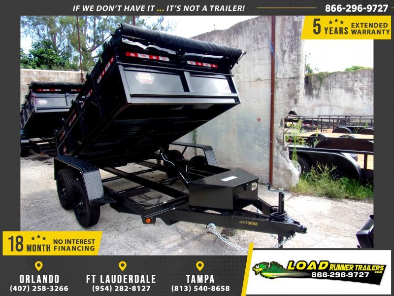 *116433* 6x10 Dump Trailer |LRT Tandem Axle Trailers 6 x 10