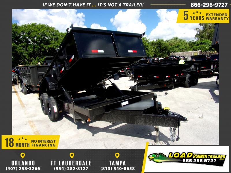 *117474* 7x14 Dump Trailer |LRT Tandem Axle Trailers 7 x 14