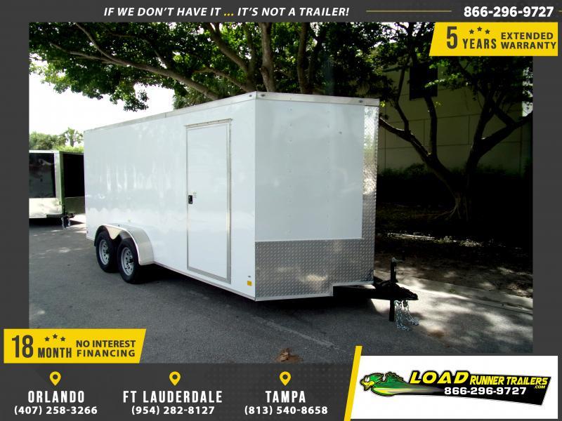 *E9D* 7x16 Enclosed Cargo Trailer |LRT Tandem Axle Trailers 7 x 16 | EV7-16T3-R