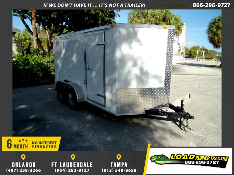 *113839* 7x12 Enclosed Cargo Trailer |LRT Tandem Axle Trailers 7 x 12