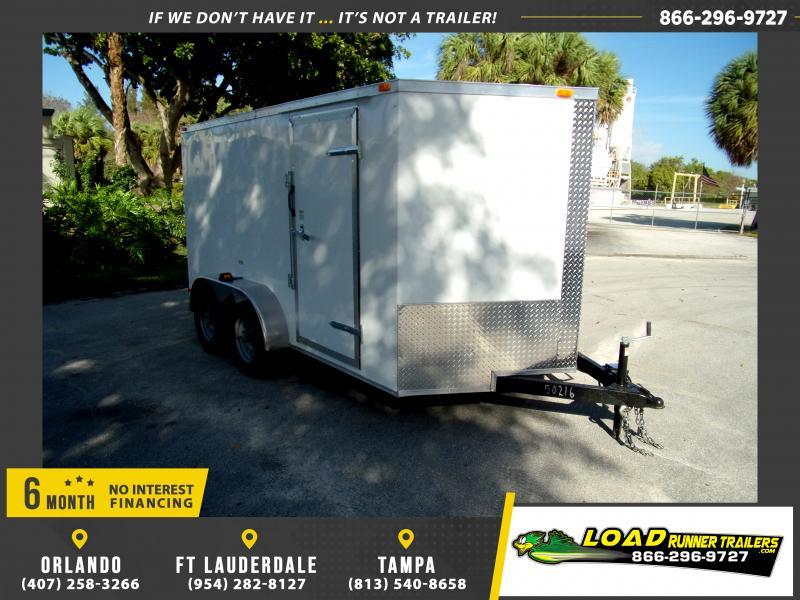*113839* 7x12 Enclosed Cargo Trailer |LRT Tandem Axle Trailers 7 x 12